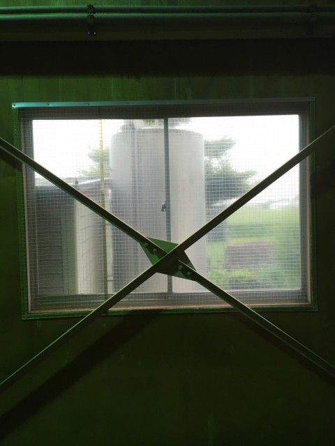 窓枠 シート 防虫 正面